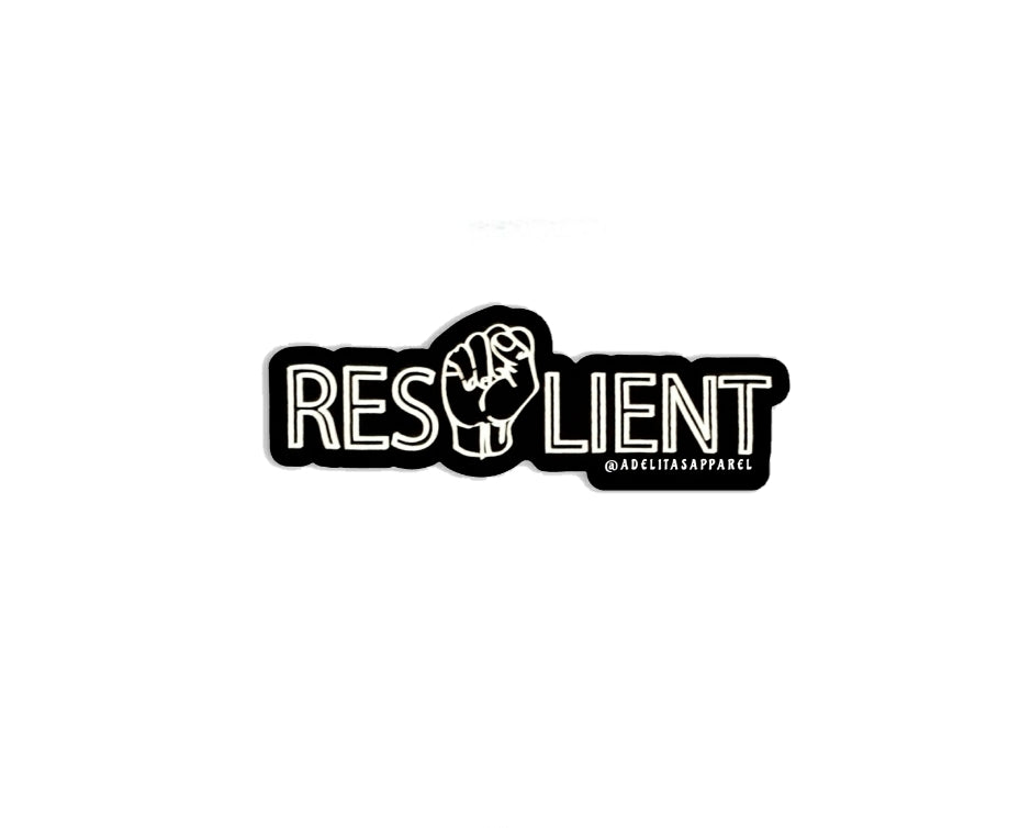 Resilient vinyl die-cut sticker