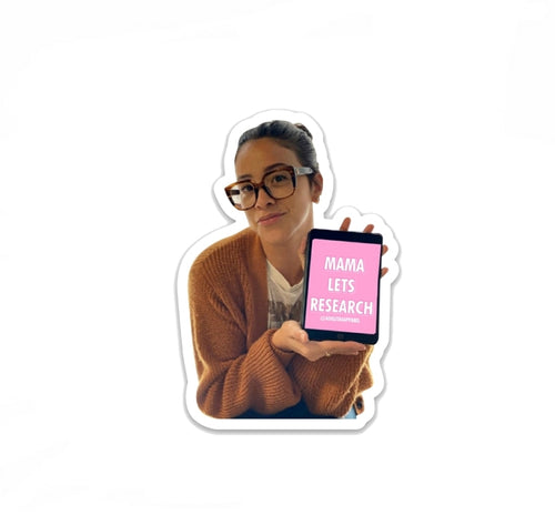 Mama Lets Research Gina Rodriguez Sticker