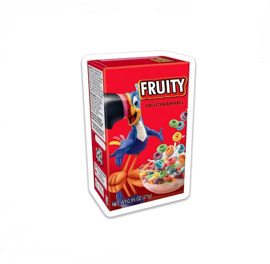 Fruity Cereal Box Sticker