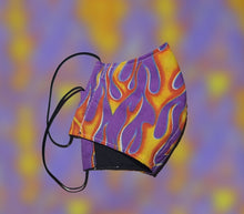 Load image into Gallery viewer, Flames Fire face mask
