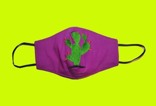 Cactus  embroided face mask