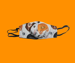 Cat and dogs animal face mask