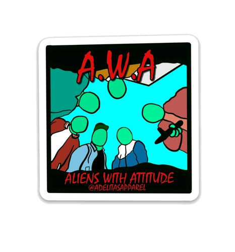 Aliens With Attitude Sticker