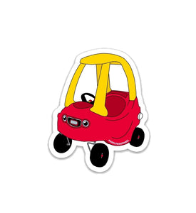 Red Cozy Coupe Car Sticker