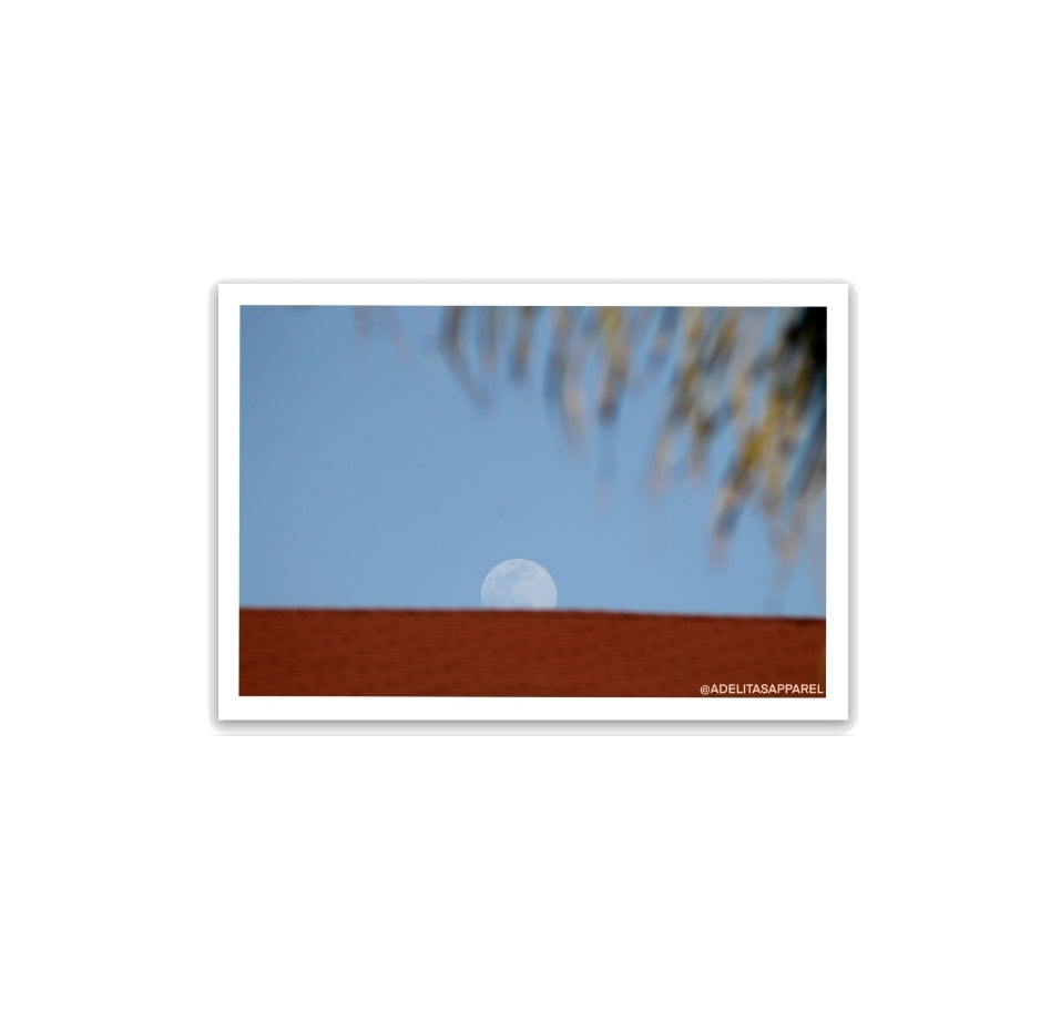 The Moon Photograph Sticker