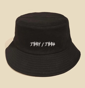 They/Them Embroided Bucket Hat