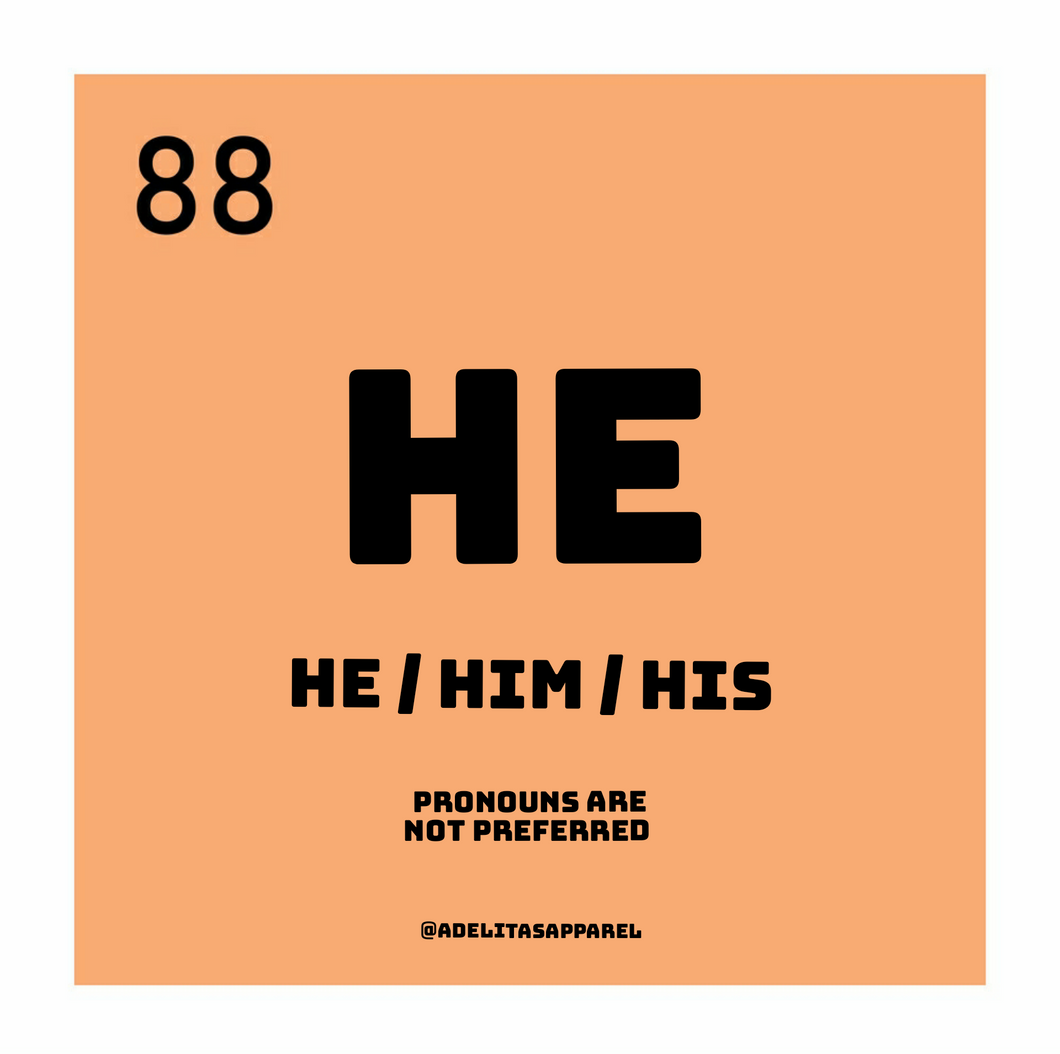 He pronoun die-cut sticker