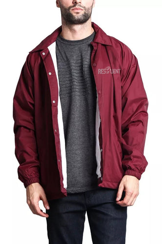 Maroon Resilient Windbreaker - Front & Back design