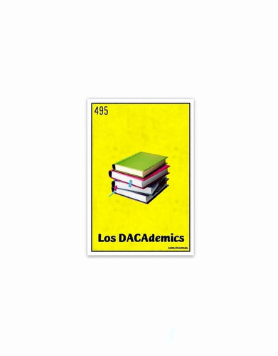 Los DACAdemics vinyl die-cut sticker