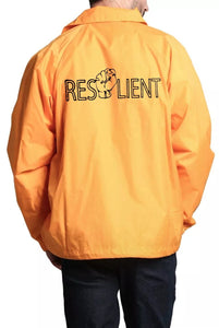 Yellow Resilient Windbreaker - Front & Back design