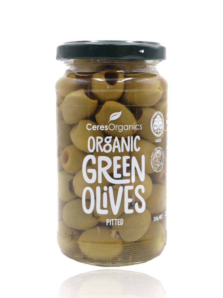 Ceres Organics Pitted Green Olives 315g - Healthy Essentials Australia - health food store - health food stores - health food store near me - organic food store - health food store near me