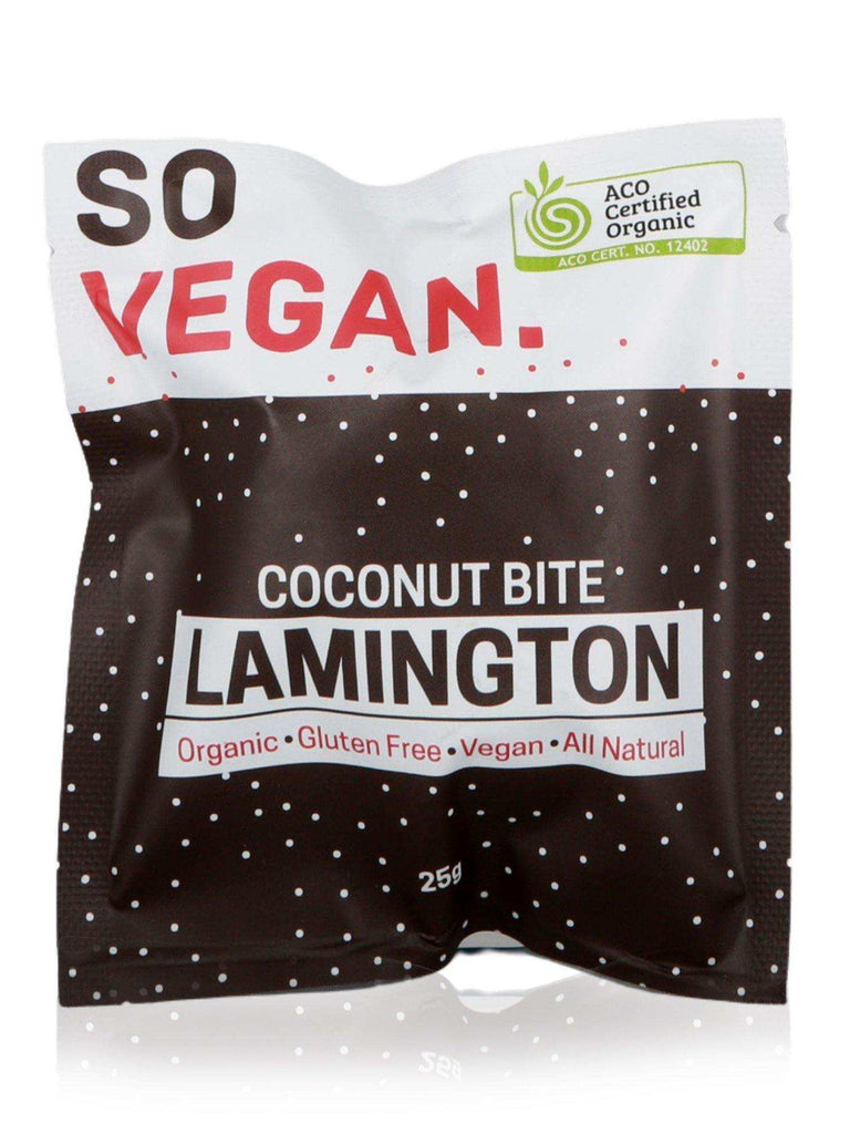 So Vegan Organic Lamington Coconut Bite 25g - Healthy Essentials Australia
