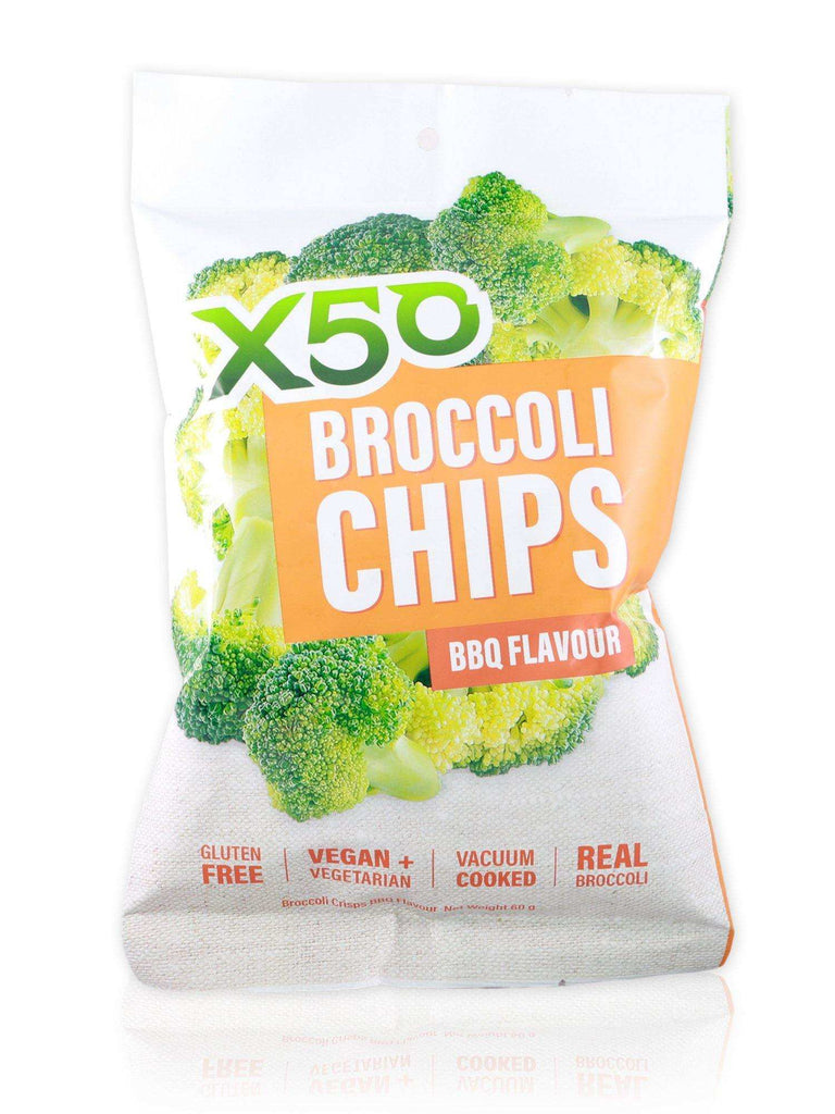 X50 BBQ Broccoli Chips 60g - Healthy Essentials Australia - health food store - health food stores - health food store near me - organic food store - health food store near me