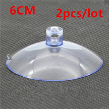 Load image into Gallery viewer, 50-20mm Clear Sucker Suction Cups Mushroom Head Strong Vacuum Suckers Hooks Hanger For window decoration wedding Car glass