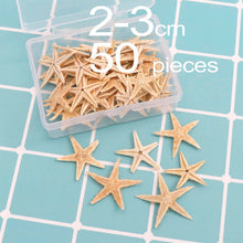 Load image into Gallery viewer, 1 Box Natural Starfish Seashell Beach Craft Natural Sea Stars DIY Beach Wedding Decoration Crafts Home Decor Epoxy 1-5cm