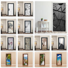 Load image into Gallery viewer, Fashion Modern Life Design Sticker On The Door Living Room Bedroom Theme Cafe Indoor Home Decor Removable Vinyl Door Sticker