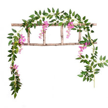 Load image into Gallery viewer, DIY  Silk Hanging Eucalyptus Garland Wedding Party Simulation Wicker Leaves Vine Decorations