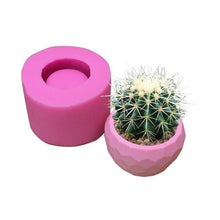 Load image into Gallery viewer, Diamond Shaped Surface Succulent Plant Flower Pot Silicone Mold Concrete DIY Ashtray Candle Holder Mold Gypsum Cement Fleshy Pot