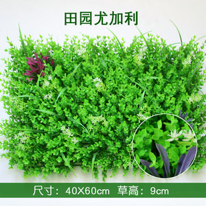 40x60cm Artificial Green Plant Lawns Carpet for Home Garden Wall Landscaping Green Plastic Lawn Door Shop Backdrop Image Grass