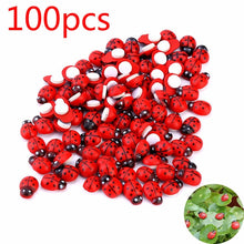 Load image into Gallery viewer, 100pcs/set Mini Ladybug Fairy Figurine Miniature Garden Ornament  Micro Landscape Bonsai Figurine Resin Crafts Dollhouse  Decor
