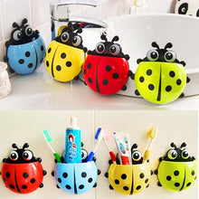 Load image into Gallery viewer, Hot Lovely Ladybug Toothbrush Holder Suction Ladybird Toothpaste Wall Sucker Bathroom Sets Household Bathroom Supplies