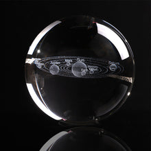 Load image into Gallery viewer, 6CM Laser Engraved Solar System Ball 3D Miniature Planets Model Sphere Glass Globe Ornament Home Decor Gift for Astrophile