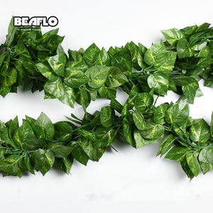 10 Style 1pc Artificial Decoration Vivid Vine Rattan Leaf Vagina Grass Plants Grape Leaves For Home Garden Party Decor B1015