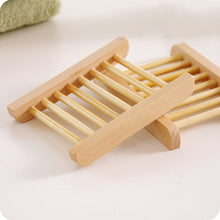 Load image into Gallery viewer, Portable Bamboo Wooden Soap Dish Shower Case Holder Container Storage Box