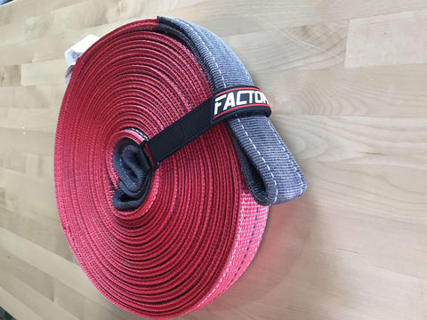 30 Foot Tow Strap Standard Duty 30 Foot x 2 Inch Red Factor 55