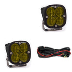 Squadron SAE Fog Lights Pair LED Wide Cornering Amber Baja Designs