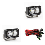 LED Work Light Clear Lens Spot Pattern Pair S2 Sport Baja Designs