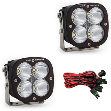 LED Light Pods High Speed Spot Pattern Pair XL Sport Series Baja Designs