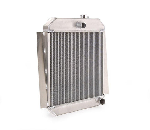 47-54 Chevrolet Pickups Downflow Radiator for GM w/Std Trans Direct-Fit Natural Finish Be Cool Radiator