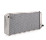 Radiator Direct-Fit Natural Finish for 40-42 Willys w/Std Trans Passenger Water Pump Outlet 33 Inch W Be Cool Radiator