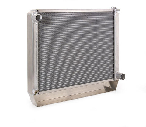 Radiator Direct-Fit Natural Finish for 63-66 Chevrolet C/K 1/2, 3/4, 1 Ton Pickups/Suburban/Panel Delivery w/Std Trans Be Cool Radiator