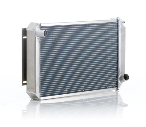Radiator Direct-Fit Natural Finish for 40-42 Willys w/Std Trans Passenger Water Pump Outlet Be Cool Radiator