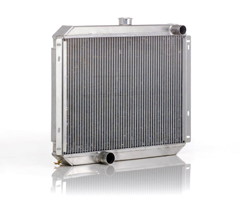 Downflow Radiator Direct-Fit Natural Finish for 53-56 Ford F100/F250, Mercury M100/M250/M350 Pickup w/V8 Conversion w/Std Trans Be Cool Radiator
