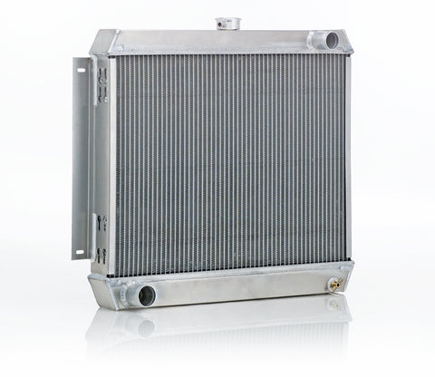Downflow Radiator Direct-Fit Natural Finish for 46-52 Ford F100 Pickup w/V8 Conversion w/Std Trans Passenger Upper Hose Be Cool Radiator