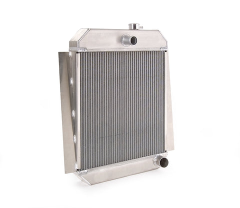 Downflow Radiator Direct-Fit Polished Finish for 47-54 Chevrolet 1/2, 3/4, 1 Ton Pickups w/Std Trans 19 Inch W x 24 Inch H Be Cool Radiator