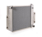 Radiator Direct-Fit Polished Finish for 70-83 Jeep CJ/Scrambler w/Std Trans Be Cool Radiator