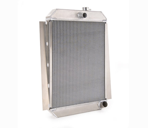 Downflow Radiator Direct-Fit Polished Finish for 47-54 Chevrolet 1/2, 3/4, 1 Ton Pickups w/Std Trans 19 Inch W x 28 Inch H Be Cool Radiator