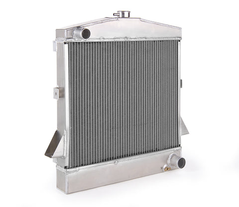 Radiator Direct-Fit Polished Finish for 66-77 Ford Bronco w/Std Trans Be Cool Radiator