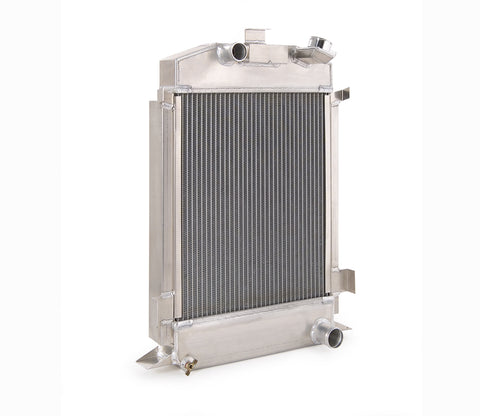 Downflow Radiator Direct-Fit Polished Finish for 42-52 Ford F100 Pickup w/Std Trans Be Cool Radiator