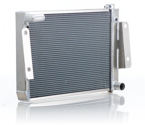 Radiator Direct-Fit Polished Finish for 74-88 Jeep J-Series w/Std Trans Be Cool Radiator
