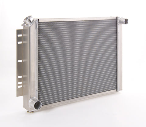 Radiator Direct-Fit Polished Finish for 74-88 Jeep J-Series 74-92 Wagoneer/Grand Wagoneer w/Std Trans Small Block Chevy Be Cool Radiator