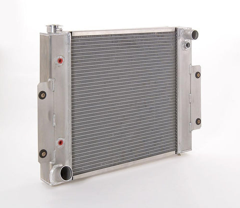 Radiator Direct-Fit Natural Finish for 70-86 Jeep CJ/Scrambler w/Auto Trans Driver Water Pump Outlet Be Cool Radiator
