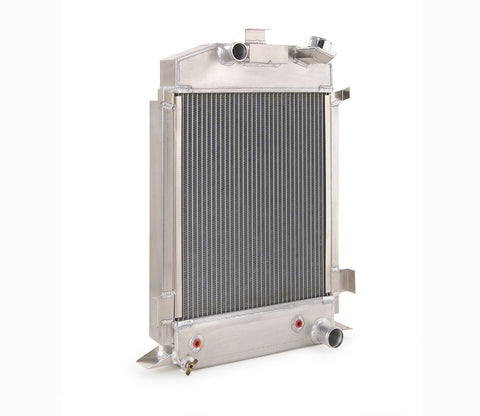 Downflow Radiator Direct-Fit Natural Finish for 42-52 Ford F100 Pickup w/Flathead V8 w/Auto Trans Be Cool Radiator