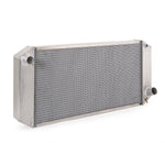 Radiator Direct-Fit Natural Finish for 40-42 Willys w/Auto Trans Passenger Water Pump Outlet 33 Inch W Be Cool Radiator