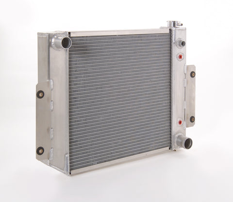Radiator Direct-Fit Polished Finish for 70-83 Jeep CJ/Scrambler w/Auto Trans Be Cool Radiator
