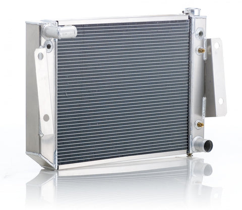 Radiator Direct-Fit Polished Finish for 74-88 Jeep J-Series w/Auto Trans Small Block Chevy Be Cool Radiator